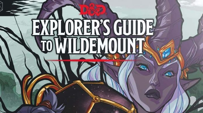 Detalle del título de la portada de Explorer's Guide to Wildemount
