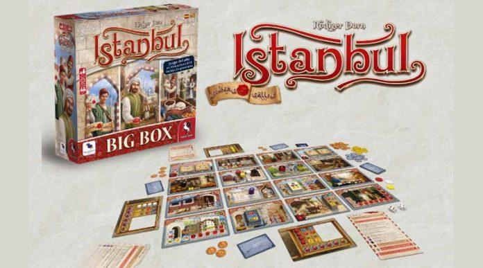 Caja y componentes de la edicion en castellano de Istambul: big box