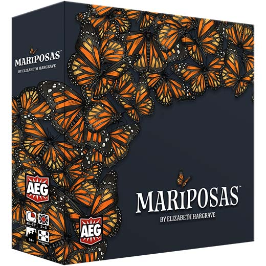 Portada del juego de tablero Mariposas