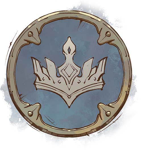 Diseño del marcador de la corona de Tellstones