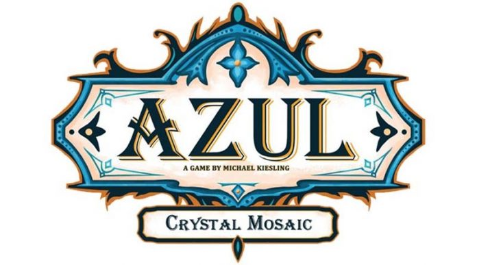 Logotipo de la expansión de azul mosaico de cristal
