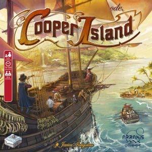 Portada de la edición en castellano del juego de mesa Cooper Island