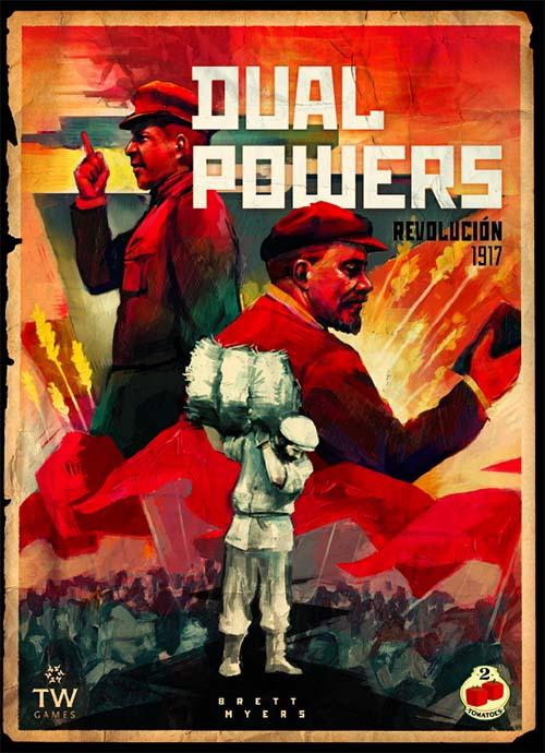 portada en castellano del juego de tablero Dual Powers: Revolution 1917