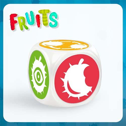 dado del juego de tablero fruits
