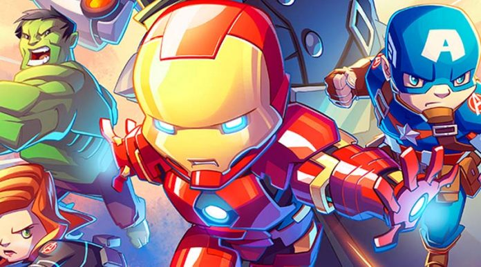 Arte de la portada del juego de tablero Marvel United