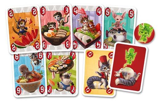 cartas del juego de mesa Tempurra