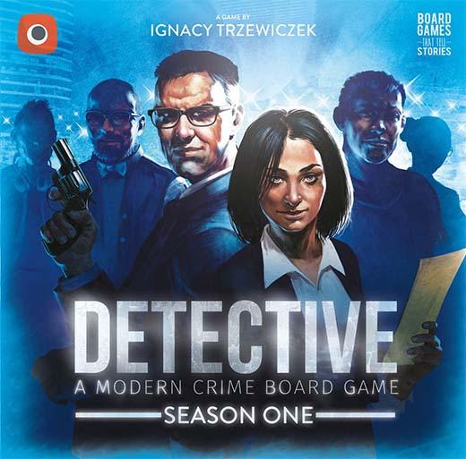 Portada del juego de tablero Detective season one