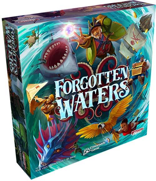 Portada del juego de mesa Forgotten Waters