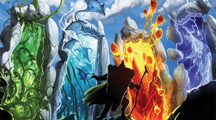 Detalle de la portada del juego de mesa Gates of Mara