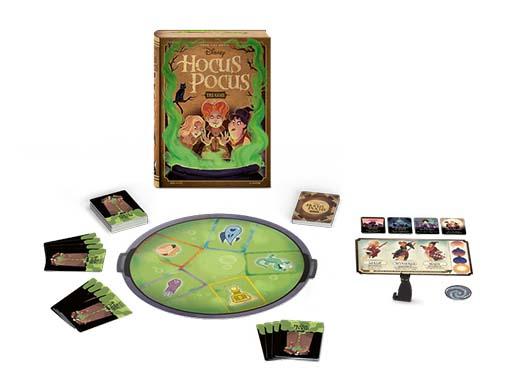 componentes del juego de mesa Hocus Pocus