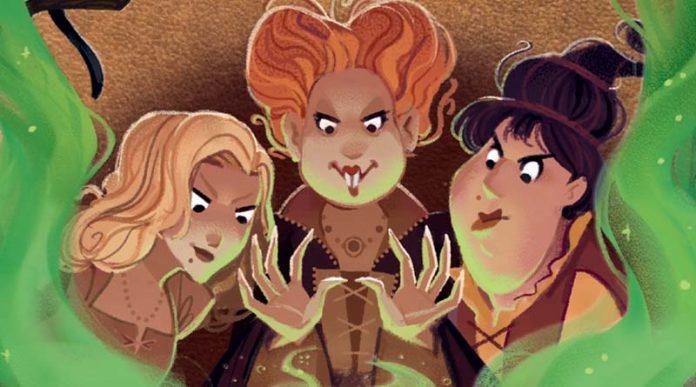 Detalle de la portada del juego de tablero Hocus Pocus