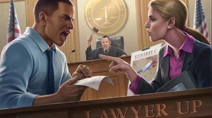 Portada del juego de mesa Lawyer Up