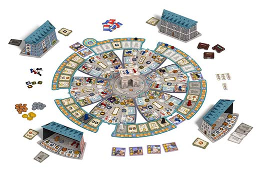 Componentes del juego de tablero París