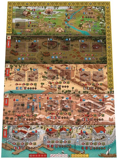 Tablero del juego Raiders of Scythia