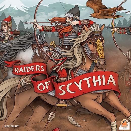 Portada del juego de mesa Raiders of Scythia