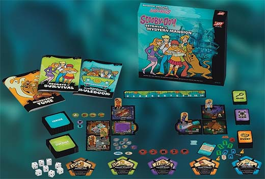 Componentes de Scooby-Doo Betrayal at Mystery Mansion