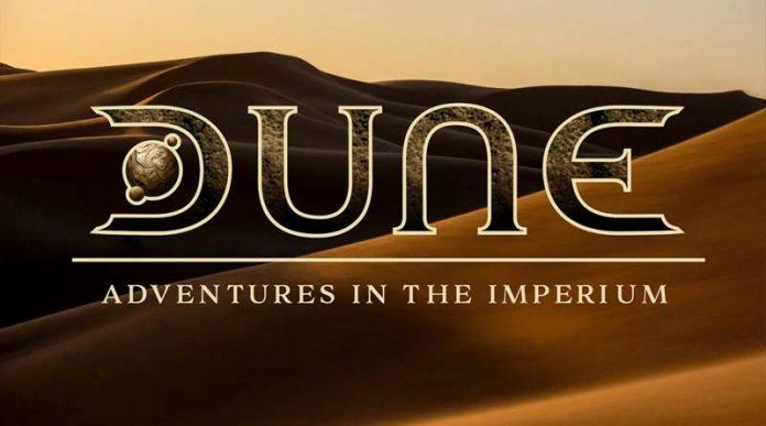 Logotipo del juego de rol Dune: Aventuras en el imperio