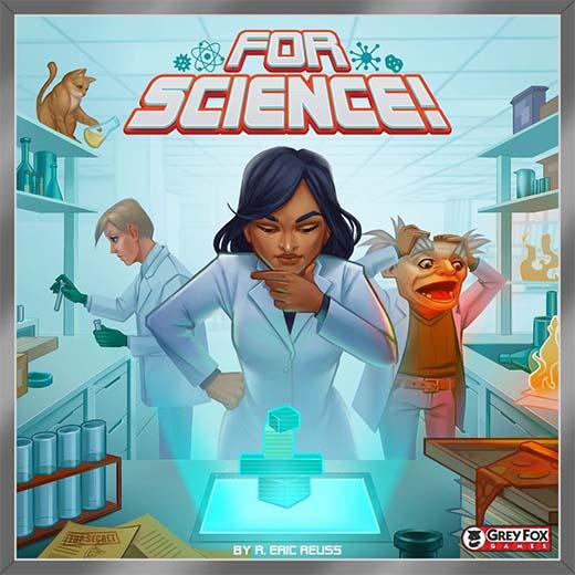 Portada del juego de tablero For Science!