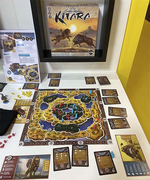 Componentes del juego de mesa Kitara