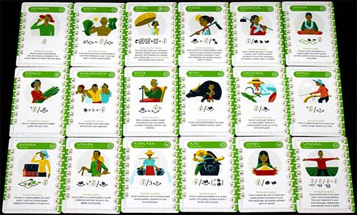 Cartas del juego de mesa Seasons of Rice