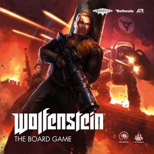 Portada del juego de tablero de Wolfestein the board game