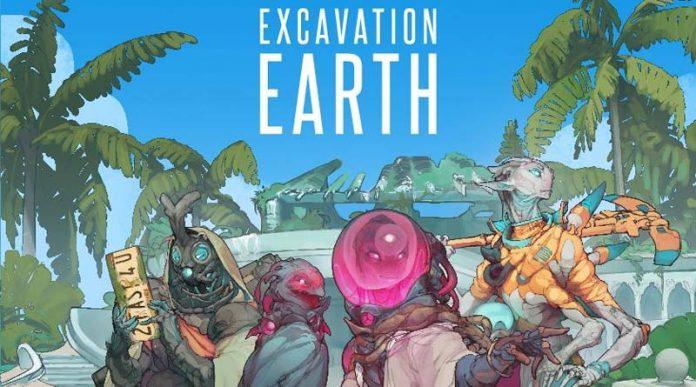 Portada del juego de tablero Excavation Earth