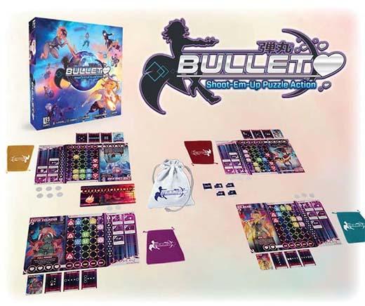 Componentes del juego de mesa Bullet