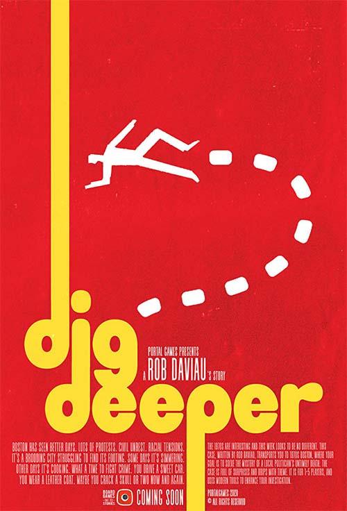 portada de dig deeper, una nueva aventura para Detective: A modern Crime Board Game