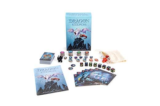 Componentes del juego de tablero Dragon Keeper