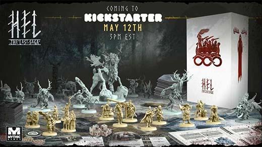 Componentes del juego de tablero Hel: The Last Saga