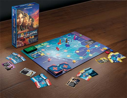 Componentes de Pandemic: Hot Zone - North America