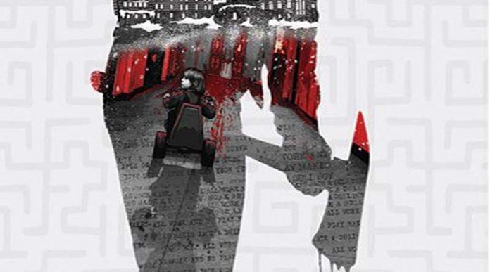 Arte de la portada del juego de tablero El Resplandor Escape del Hotel Overlook