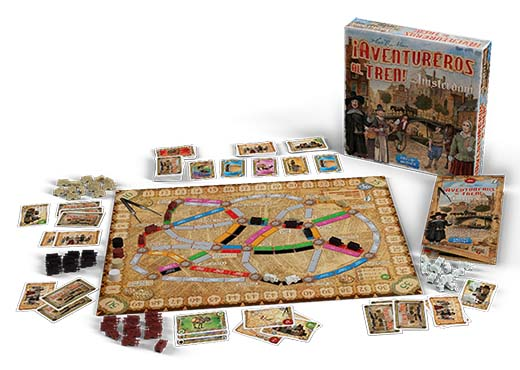 Componentes de Ticket to Ride: Amsterdam