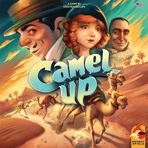 Portada del Juego de mesa de la segunda edición de Camel Up
