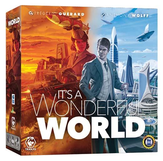 Portada en castellano del juego de mesa It's a Wonderful World