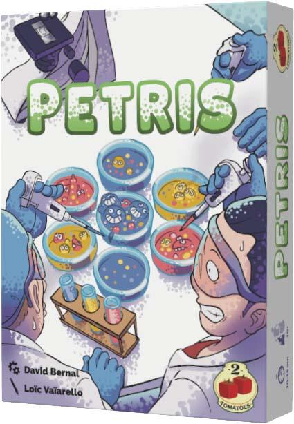 Portada del juego de mesa Petris