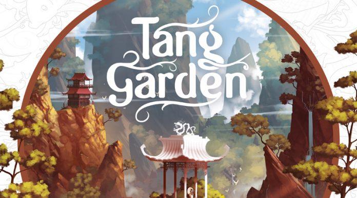 Detalle de la portada de Tang garden