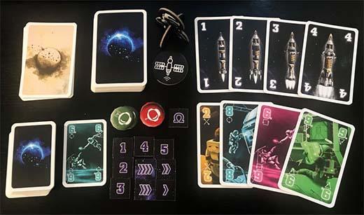 Componentes del juego de cartas The Crew