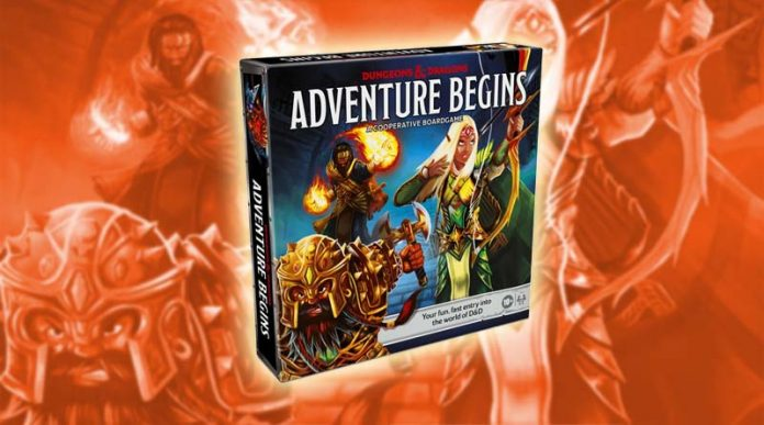 Portada de Dungeons & Dragons Adventure Begins