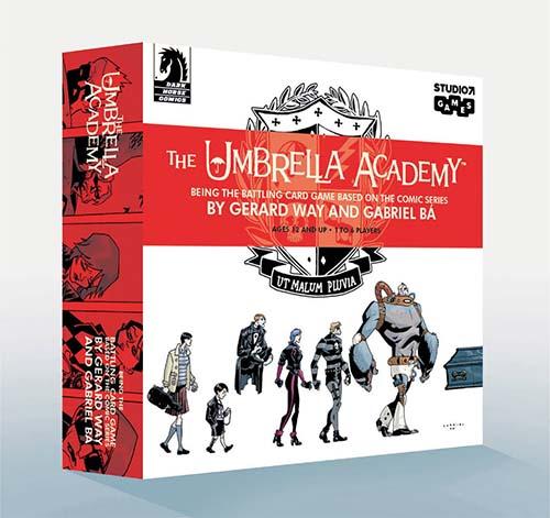 Portrada de The Umbrella Academy el juego de cartas