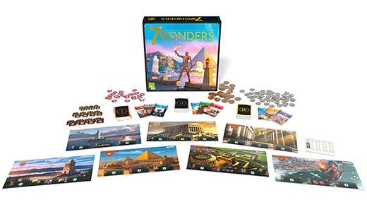 Componentes de 7 wonders segunda edición