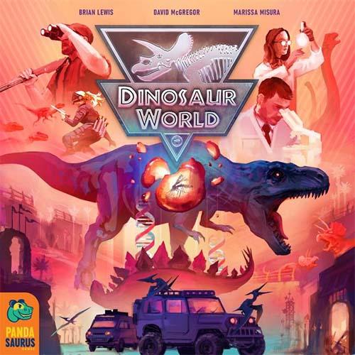 Portada del juego de tablero Dinosaur World