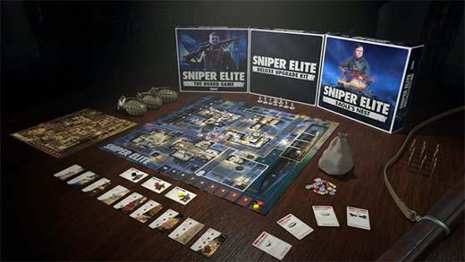 Componentes de Sniper Elite the board Game