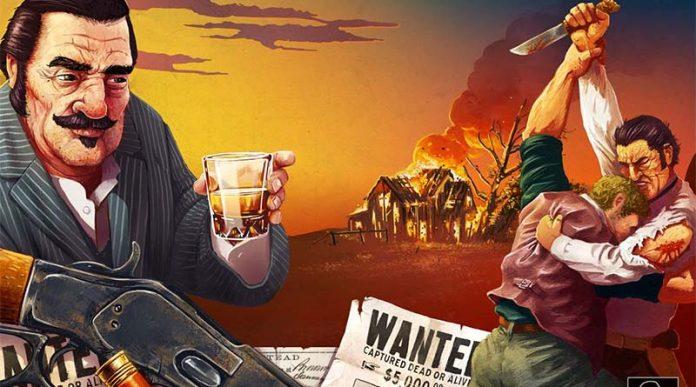 Detalle de la portada del juego de mesa Western Legends Blood Money