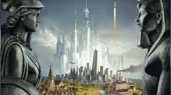 Detalle de la portada de Civilization Un nuevo amanecer