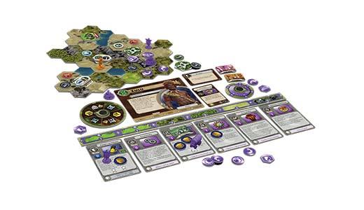 Componentes de Terra Incognita primera expansión de Civilization Un nuevo amanecer
