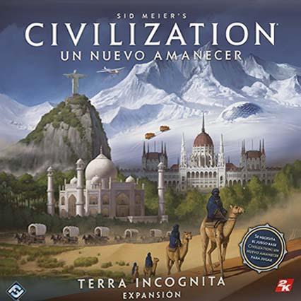 Portada de la primera expansión para Civilization Un nuevo amanecer Terra Incognita