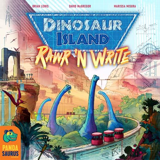 Portada de dinosaur island rawr and write