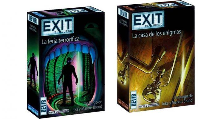 portada de Exit la feria terrorífica y la casa de los enigmas