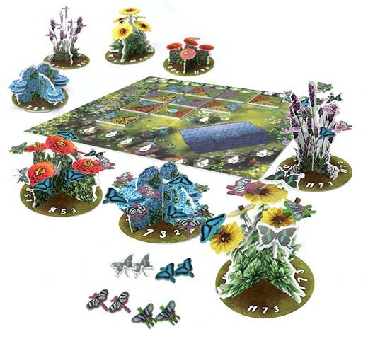 Componentes del juego de tablero papillon